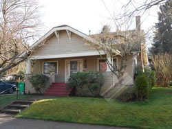 This house in Sellwood needs a new roof and some overhang repairs.
