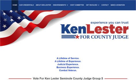 Ken Lester For County Judge