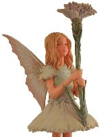 Pink Girl Flower Fairy Figurine