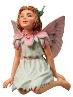 Stork's Bill Flower Fairy Figurine