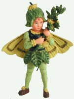 Box Tree Flower Fairy Figurine