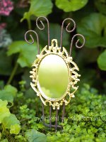 Miniature Gold Mirror Fairy Garden