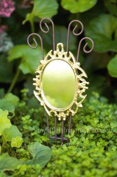 Miniature Gold Mirror Fairy Garden