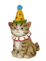 Miniature Merriment Fairy Birthday Cat