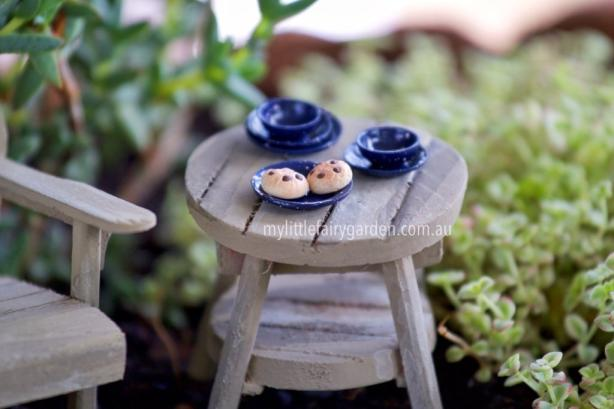 Miniature Blue Plate and Bowl Set