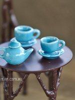 Miniature Blue Tea Set Fairy Party