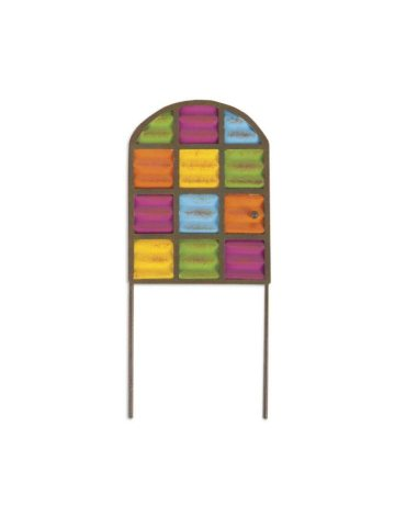 Miniature Multi Colored Panel Door Gypsy Garden