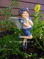 Cornflower Flower Fairy Figurine