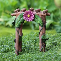 Flower Log Arbour Miniature Fairy Garden