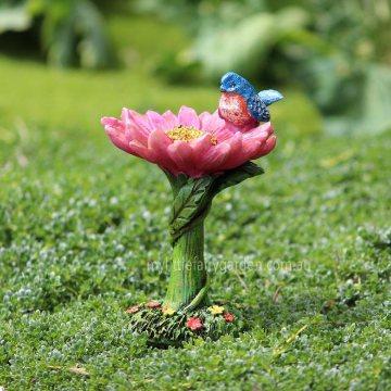 Flower Bird Bath Miniature Fairy Garden