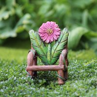 Flower Log Chair Miniature Fairy Garden