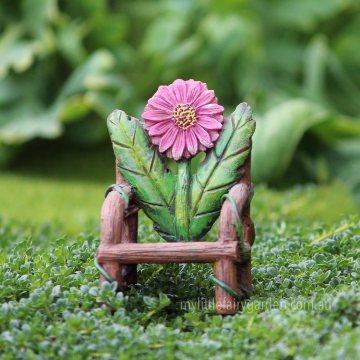 Flower Log Chair Miniature Fairy Garden