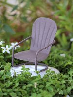 Wire Glider Chair Micro Miniature Fairy Garden