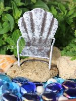Miniature White Glider Chair Fairy Garden