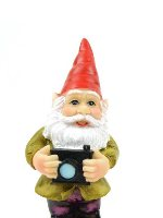 Gnome with Camera Miniature Fairy Garden