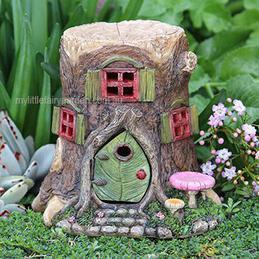 Tree Stump Fairy House Miniature Fairy Garden