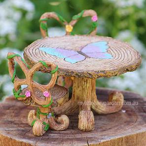 Butterfly Bistro Setting Fairy Garden