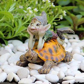 Fairy Garden Pixie with Turtle