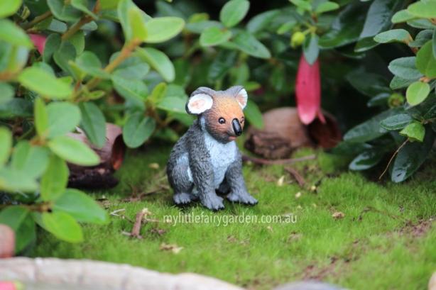 Miniature Koala Fairy Garden