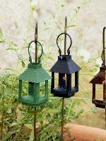 Miniature Antiqued Metal Lantern