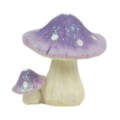 Miniature Red Glitter Toadstools Fairy Garden