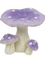Miniature Glitter Toadstools Fairy Garden