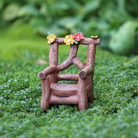 Miniature Faux Timber Chair Fairy Garden