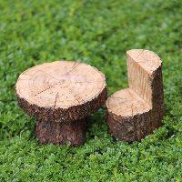 Miniature Faux Timber Chair Fairy Garden