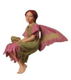 Mallow Flower Fairy Figurine