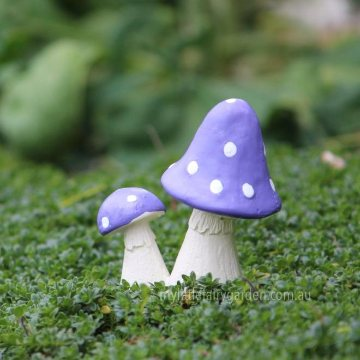 Miniature Twin Mushrooms Toadstools Fairy Garden