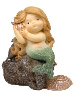 Mermaid Sleeping on Rock Miniature Fairy Garden