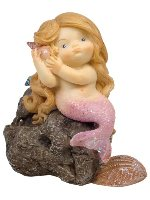 Mermaid on Rock Miniature Fairy Garden