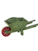 Miniature Merriment Mini Green Wheelbarrow