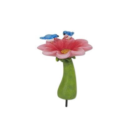 Miniature Merriment Mini Pink Flower Birdbath