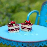 Raspberry Sponge Cake Miniature Fairy Garden