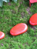 Miniature Fairy Garden Red Stepping Stone Set 3