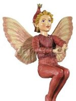 Scarlet Pimpernel Flower Fairy Figurine