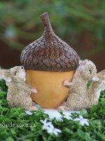Miniature Squirrels with Acorn