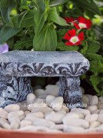 Miniature Stone Bench Fairy Garden