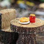 Miniature Fairy Croissant Jam Jar