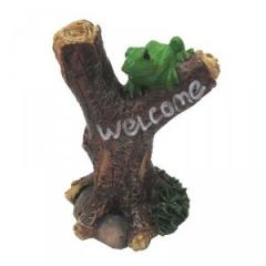 Fairies Welcome Sign with Frog