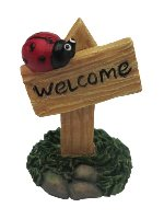 Fairies Welcome Sign with Ladybug