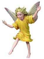 Crocus Girl Flower Fairy Figurine