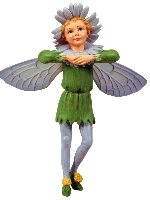 Michaelmas Daisy Flower Fairy Figurine