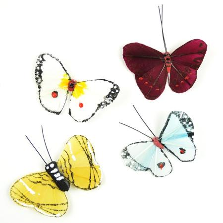 Butterflies Set of 4 Miniature Fairy Garden