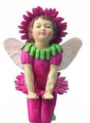 Double Daisy Flower Fairy Figurine