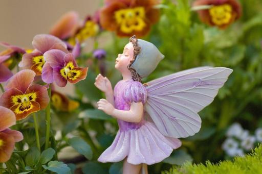 Lilac Flower Fairy Figurine