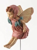 Red Clover Flower Fairy Figurine