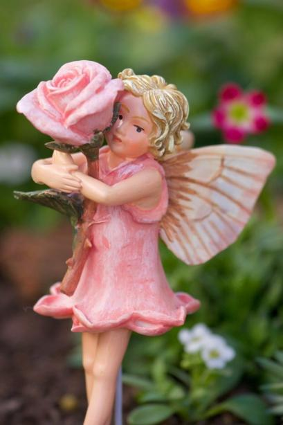 Rose Flower Fairy Figurine