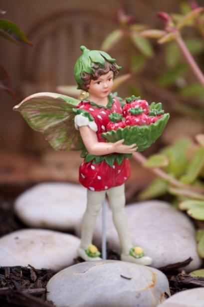 Strawberry Flower Fairy Figurine